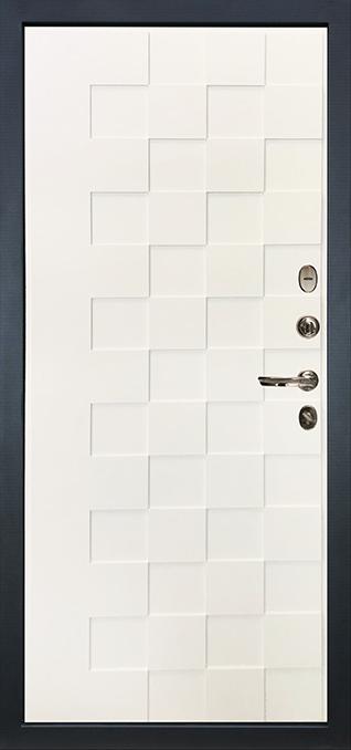 Лекс 71 ПВХ 16 мм цвет Шагрень белая квадро