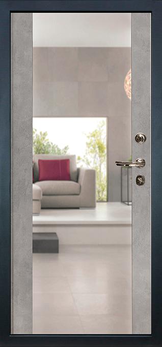 Лекс 102 ПВХ 16 мм с зеркалом цвет Бетон серый
