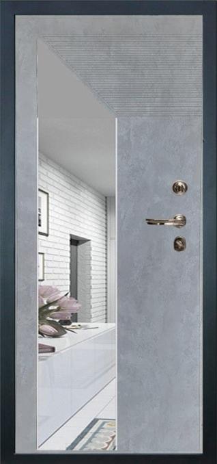 Лекс 95 ПВХ 12 мм с зеркальной вставкой цвет Бетон серый